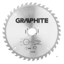 GRAPHITE circular saw blade 255mm 40t blade 144mm, arbor hole 30mm, teeth 40, thickness 2.0mm, cutting thickness 2.8mm, geometry