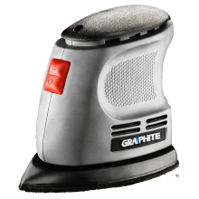 GRAPHITE mouse sander 105w con sistema hook and loop