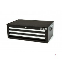 HBM 3 drawers deluxe top cabinet black