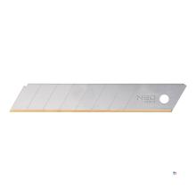 NEO ersatzklinge 18 mm, titan 10-teilige verpackung, 18 x 0,50 mm, fallen lasergeschnitten