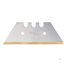 NEO ersatzklinge 52 mm trapezförmig, 5-teiliges titan-pack, 52 x 0,65 mm, spitze laser geschnitten