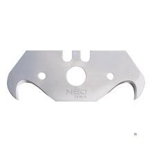 NEO ersatzmesserhaken modell 5 stück packung, 0,65 mm, stufenweise gelasert