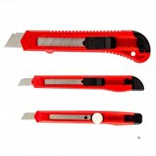 Top Tools knivsett 3x 2x 9mm, 1x 18mm