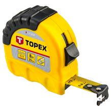 TOPEX cinta métrica 8 mtr shiftlock recubierta de nailon, banda de 25 mm