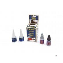 q-bond ultra strong glue & filling powder set 2 x 10ml.glue + powder