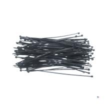 TOPEX kabelbuntbånd 2,5 x 100 mm svart 100 stykker, uv-bestandig, - / - 35 ° til + 85 °, polyamid 6,6