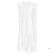 TOPEX kabelbånd 2,5 x 200 mm hvit 100 stykker, uv-bestandig, - / - 35 ° til + 85 °, polyamid 6,6