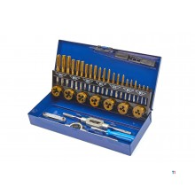 HBM 32-piece tin m3-12 tap and cutting set