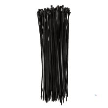 TOPEX kabelbuntbånd 3,6 x 300 mm svart 100 stykker, uv-bestandig, - / - 35 ° til + 85 °, polyamid 6,6
