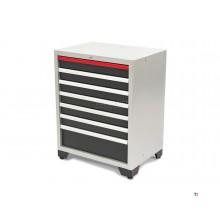 Armoire à outils professionnelle de luxe HBM 7 tiroirs pour équipement d'atelier