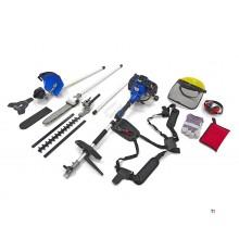 HBM 4-i-1 buskaks / gressklipper / hekksaks / motorsag / tresag - 52 cc inkludert kroppsbeskyttelse