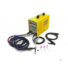 Inverter CC HBM TIG 200 con funzione a impulsi
