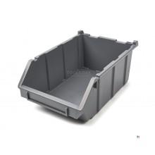 Contenedor de almacenamiento profesional HBM, Contenedor apilable para almacén 12 x 15 x 35 cm