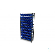 HBM Bakkenkast, Lagersystem, Rack mit 60 Lagerplätzen