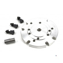 Bride en aluminium HBM pour mandrin 100 et 125 mm DIN 6350