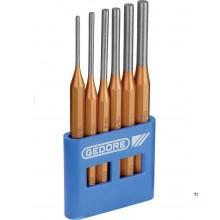 Gedore 6 piezas Drift punch set pin punch 6 piezas en soporte de PVC