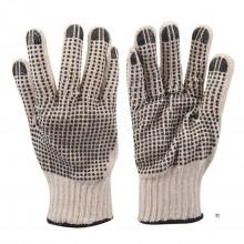 Silverline Dobbeltsidede stiplede handsker Stor