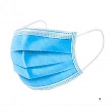 HBM 50 stykker 3 lags ansigtsmasker velegnet til rejser i offentlig transport