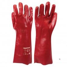 Silverline Rode PVC Beschermende Handschoenen, Lange uitvoering Maat L