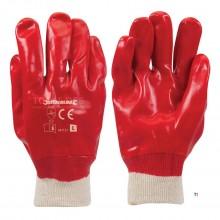 Silverline røde PVC hansker