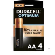 Duracell Alkaline Optimum AA 4st.