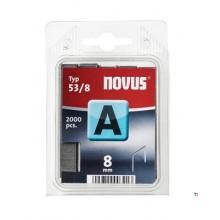 Agrafes Novus Fine Wire A 53 / 8mm, 2000 pcs.
