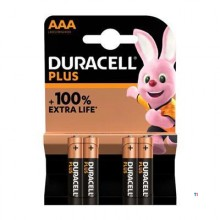 Duracell Alkaline Plus 100 AAA 4 pièces.