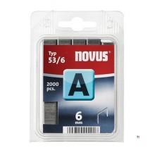 Agrafes Novus Fine Wire A 53 / 6mm, 2000 pcs.