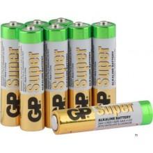 GP AAA-batteri Alkaline Super 1,5V 8st