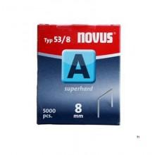 Agrafes Novus Fine Wire A 53 / 8mm, 5000 pcs.