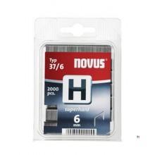 Agrafes Novus Fine Wire H 37 / 6mm, 2000 pcs.