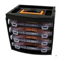 ERRO Förvaring sortiment låda med 4 sortiment lådor