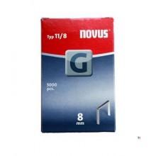 Agrafes Novus Flatwire G 11 / 8mm, 5000 pcs.