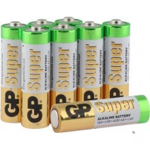 Batteria GP AA Alcalina Super 1,5V 8pz