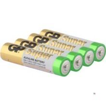 GP AAA-batteri Alkaline Super 1,5V 4st