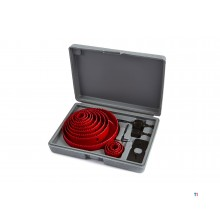 HBM 16-piece hole saw set