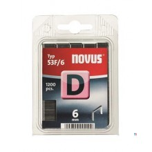 Agrafes Novus Flatwire D 53F / 6mm, 1200 pcs.