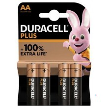 Duracell Alkaline Plus 100 AA 4st.