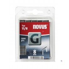 Agrafes Novus Flatwire G 11 / 8mm, 1200 pcs.