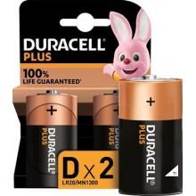 Duracell Alkaline Plus 100 D 2st.