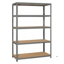ERRO Storage rack STRONG, 5 shelves, galvanized D