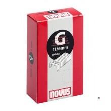 Agrafes Novus Flatwire G 11 / 6mm, 5000 pcs.