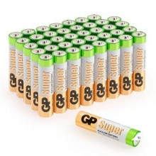 Batteria GP AAA alcalina Super 1.5V 40 pezzi