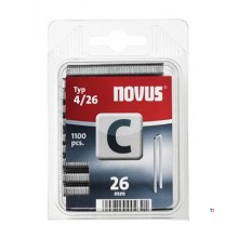 Agrafes Novus à dos étroit C 4/26, 1100 pcs.