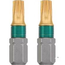 Tarjeta KWB 2 Bits 25mm Titanium Torx 15