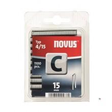 Agrafes Novus à dos étroit C 4/15, 1100 pcs.
