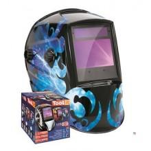 GYS Casco per saldatura LCD Zeus 5-9 / 9-13G, blu