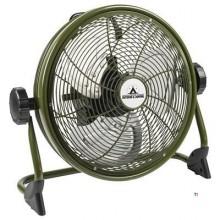 Bestron Bodenventilator, wiederaufladbar, O35cm, grün