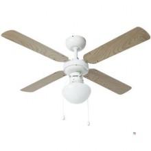 Bestron Ceiling fan with lamp white / maple 102cm