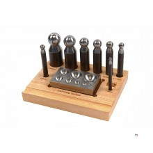 HBM 10 Piece Globe Punch Set med Ank